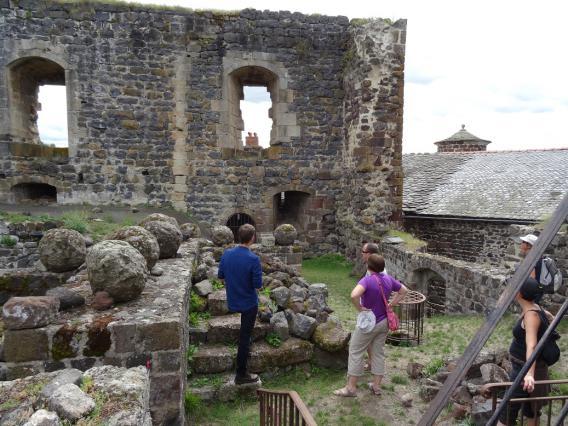 Visite du château de Bouzols, Arsac-en-Velay