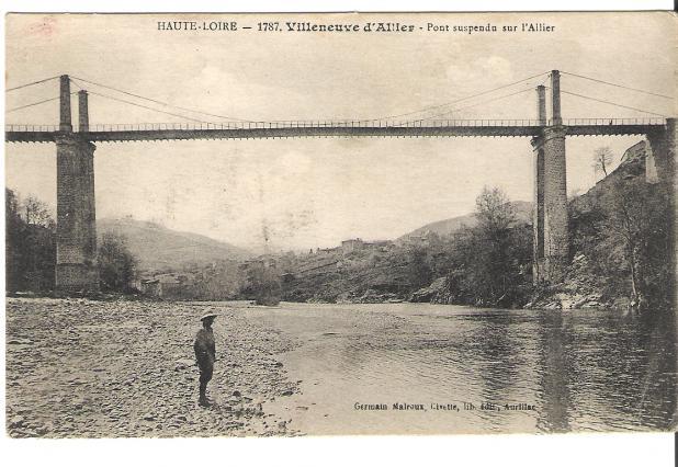 Le pont de Saint-Ilpize au début du 20e siècle
