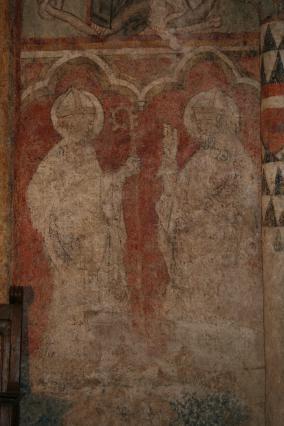 Odilon de Mercoeur, peinture murale Blassac