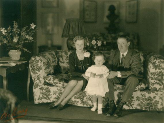 John Moffat et sa famille