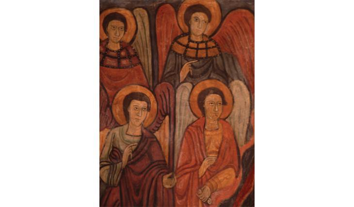 Les anges avec leurs colliers d'orfèvrerie