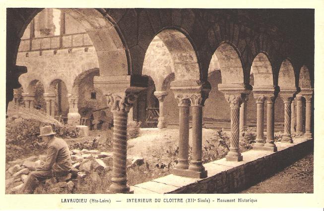 Carte postale du cloître
