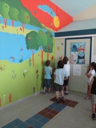 Projet réalisation d'une peinture murale à l'école de Glaine-Montaigut