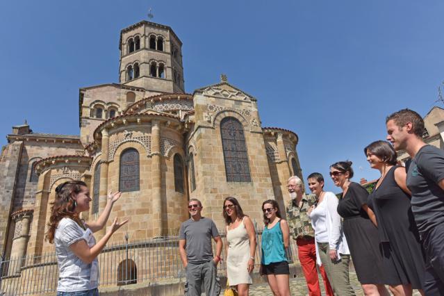 Visite de l'abbatiale Saint-Austremoine, Issoire