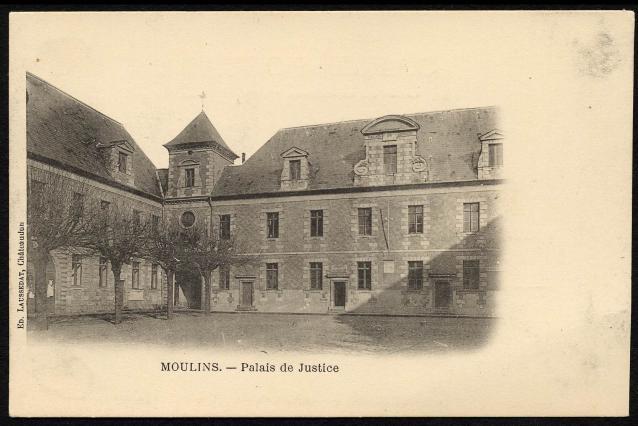 Palais de Justice - Ancien collège des Jésuites, carte postale ancienne