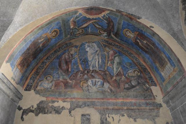 Peinture murale représentant la Transfiguration, cathédrale du Puy-en-Velay