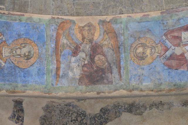 Peinture murale, voûte du porche occidental, cathédrale du Puy-en-Velay