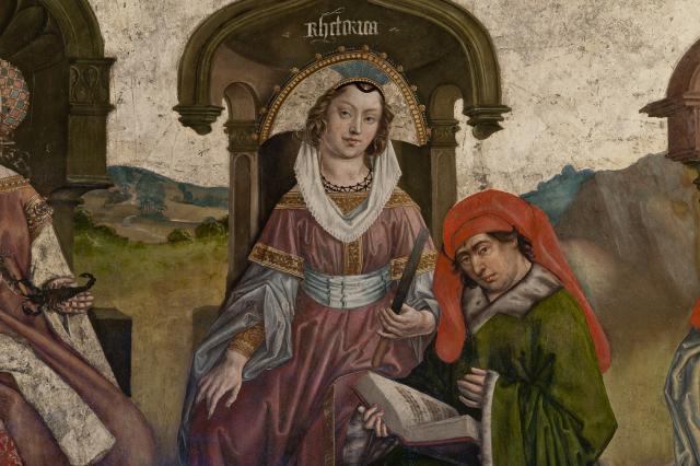 La Rhétorique, fresque des Arts libéraux, cathédrale du Puy-en-Velay