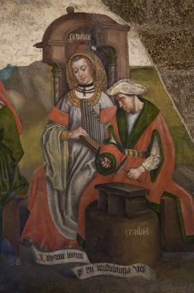 La Musique, fresque des Arts libéraux, cathédrale du Puy-en-Velay