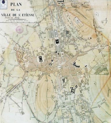 Plan de Saint-Étienne de 1824, plan en damier