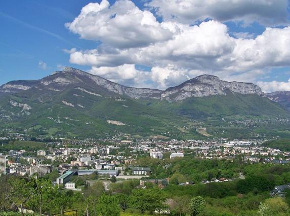 Chambéry depuis les Charmettes
