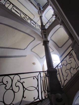 Cage d'escalier de l'Hôtel Chollet du Bourget, 18e siècle