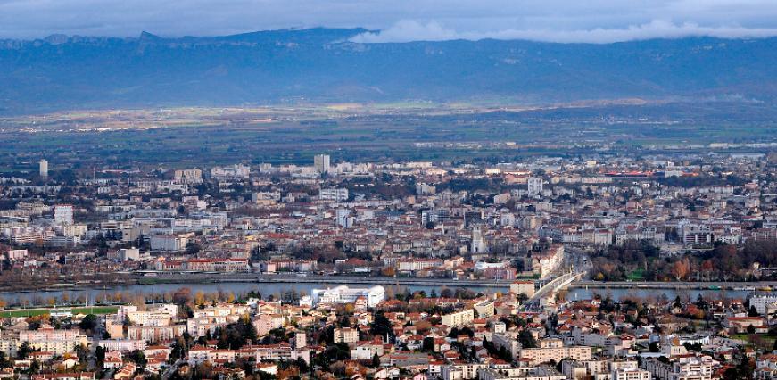 Vue de l'agglomération de Valence