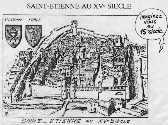 Maquette du vieux bourg de Saint-Etienne
