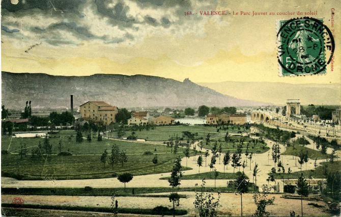 Le parc Jouvet vers 1908. coll. Jacques Benevise