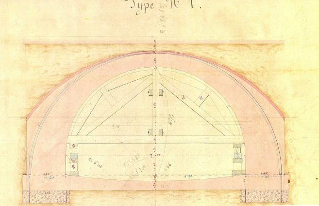 Profil de la voute du Furan cours Victor Hugo
