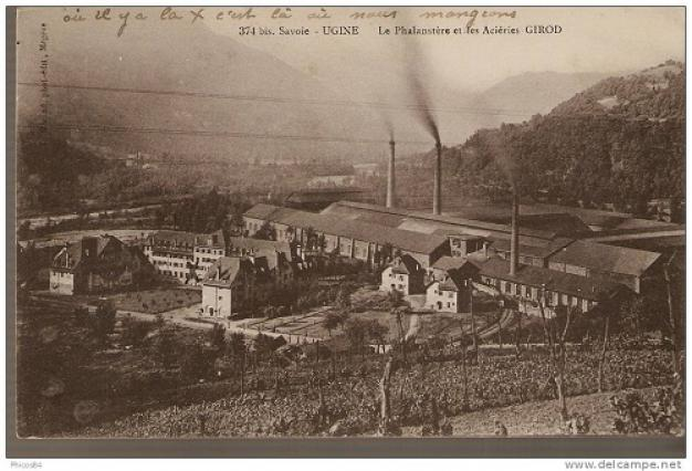 Carte postale ancienne, Ugine les Aciéries