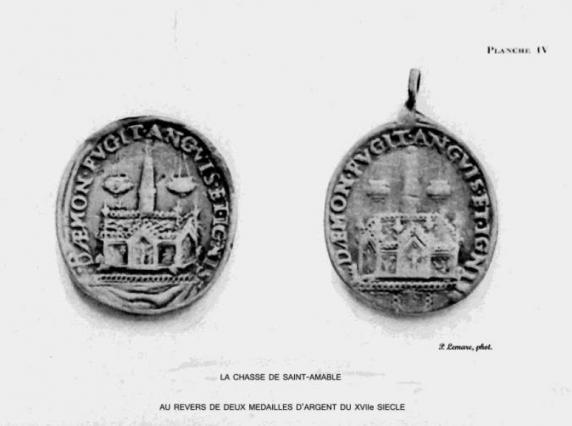 Médailles représentant la châsse, XVe siècle