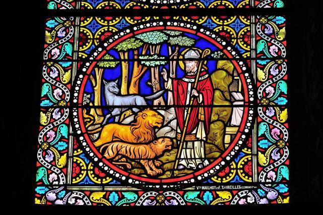 Vitrail de saint Austremoine
