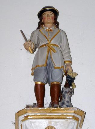 Statue de saint Verny dans l'église de Parent