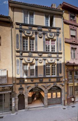 Le logis des Frères Michel, sculpteurs, rue Pannessac, Le Puy-en-Velay