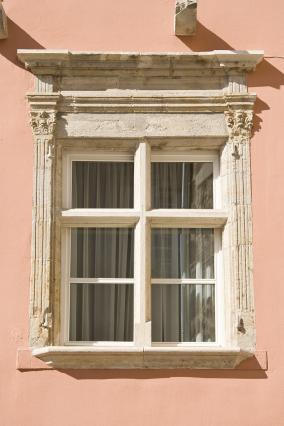 Fenêtre de l'hôtel Laval d'Arlempdes, rue Vaneau, Le Puy-en-Velay