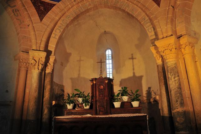 Chœur de l'église de Mailhat