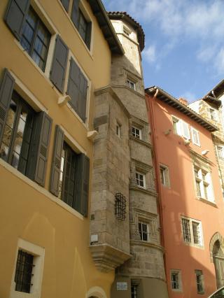 Hôtel des Laval d'Arlempdes, rue Vaneau, ville haute du Puy-en-Velay