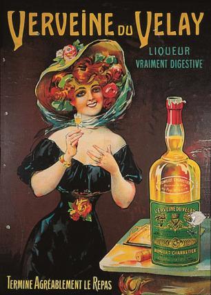 Affiche « Verveine du Velay » de la marque Rumillier-Charretier