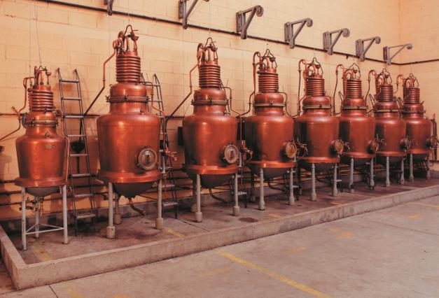 Alambics de distillerie