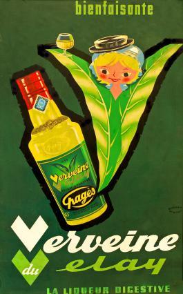 Affiche « Verveine du Velay » de la marque Pagès