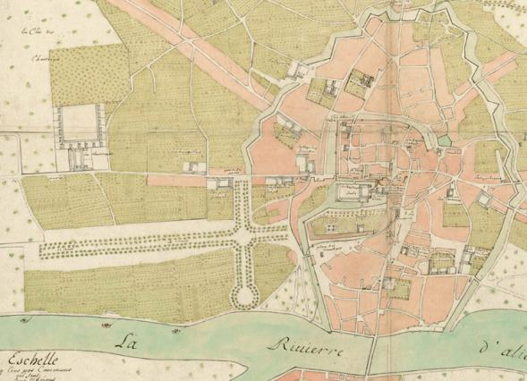 Plan 1683, Plan des  trésoriers de France. Archives municipales de Moulins