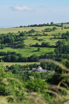 Site de l'abbaye dans la vallée de Chassagne