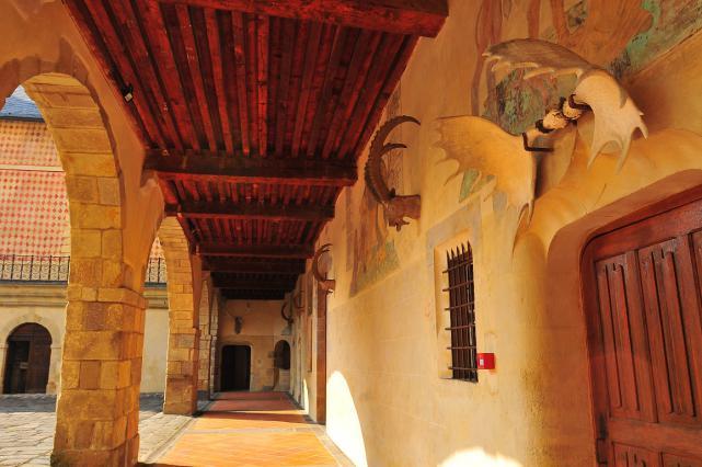 Galerie nord de la cour intérieure
