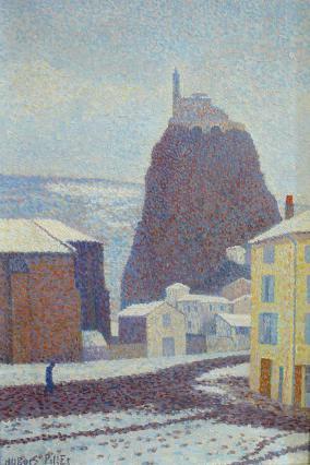 Saint-Michel d'Aiguilhe sous la neige, A. Dubois-Pillet, 1890