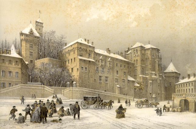 Le château des Ducs en 1860