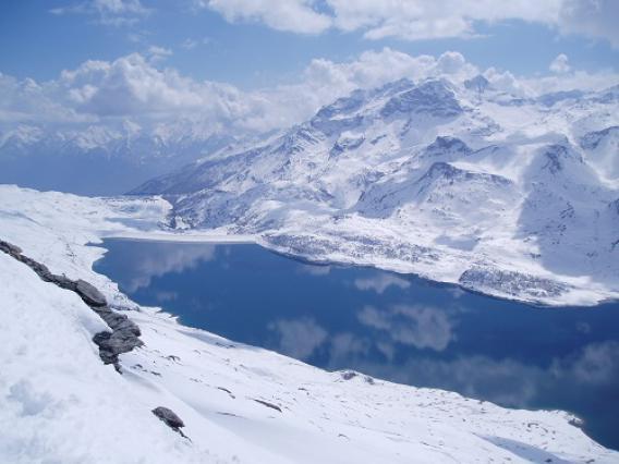 Mont Cenis, lac en hiver