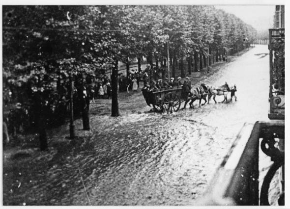 Inondation du cours Fauriel en 1904