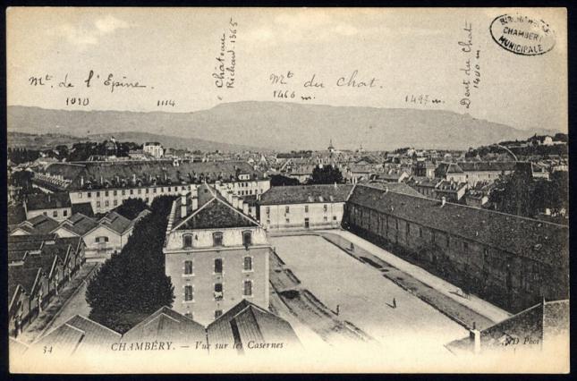 Chambéry, vue sur les casernes, médiathèque de Chambéry