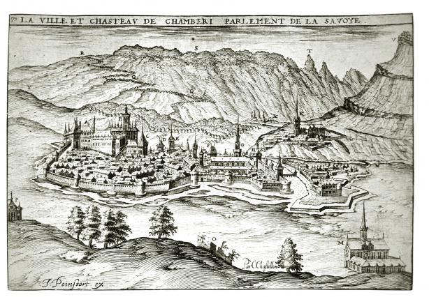 Gravurede Chatillon: Chambéry au XVIe siècle