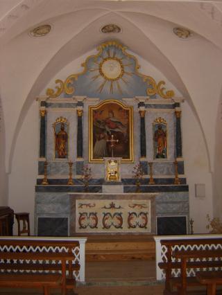 Intérieur CHapelle Notre-Dame de Compassion à la Chapelle d'Abondance
