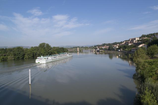 Saône et bateaux
