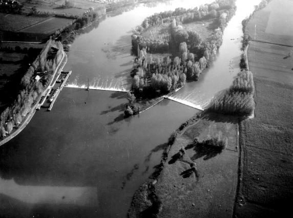 Vue aérienne du barrage de Port Bernalin