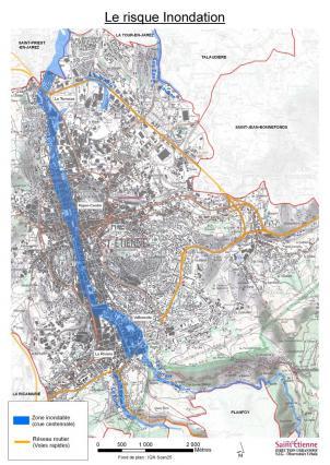 Carte des zones inondables de la ville