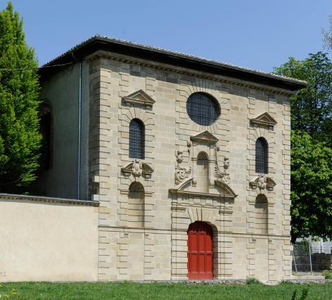 Façade de l'église Notre Dame de Soyons.