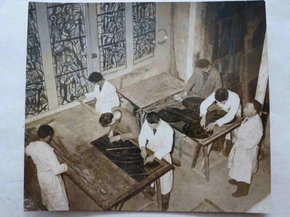 L'atelier Thomas à Valence en1952