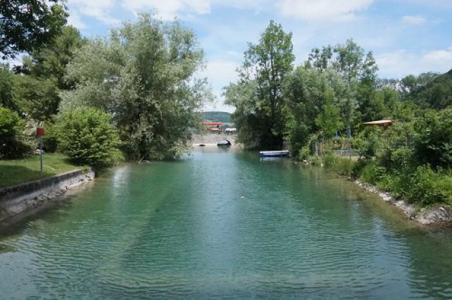 La Fure à l'embouchure du lac de Paladru