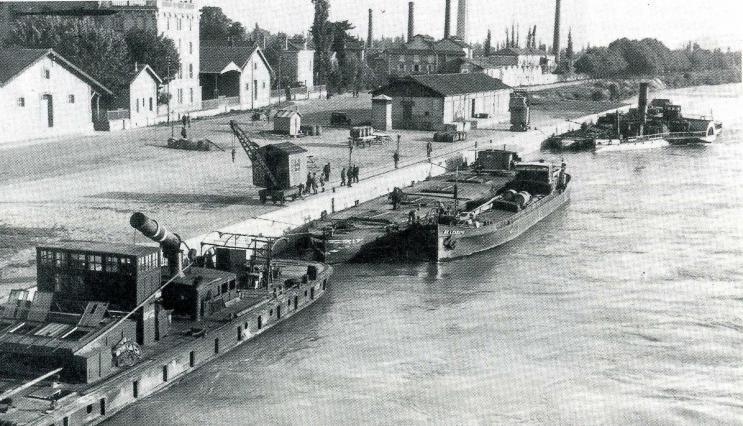 Le port de Valence vers 1820. Coll. Jacques Bénévise