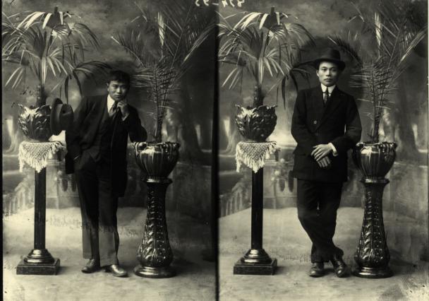 Photo de deux immigrants chinois avant 1920