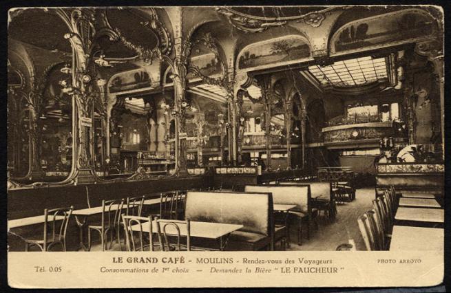 Grand Café, carte postale ancienne